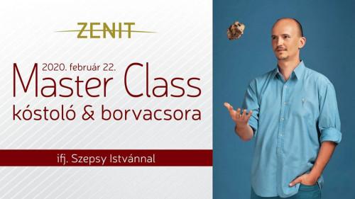 Master Class kóstoló és borvacsora Ifj. Szepsy Istvánnal